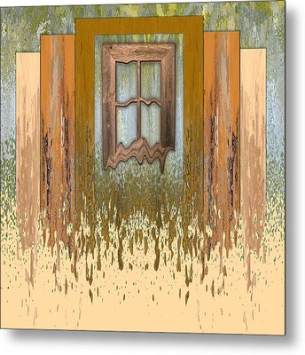 Melting Window Metal Print by Nina Bradica