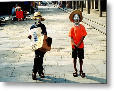 Memories Of A Better Time The Children Of New Orleans Metal Print by Christine Till