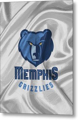 Memphis Grizzlies Metal Print by Afterdarkness