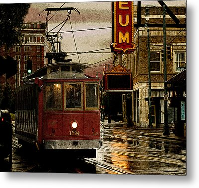 Memphis Tennissee Streetcar Metal Print by Don Wolf