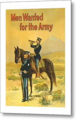Men Wanted For The Army Metal Print by War Is Hell Store