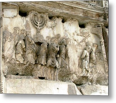Menorah On The Arch In Roma Metal Print by Mindy Newman