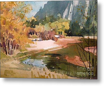Merced River Encounter Metal Print by Donald Maier