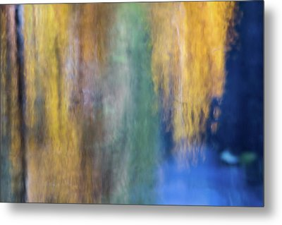 Merced River Reflections 17 Metal Print by Larry Marshall