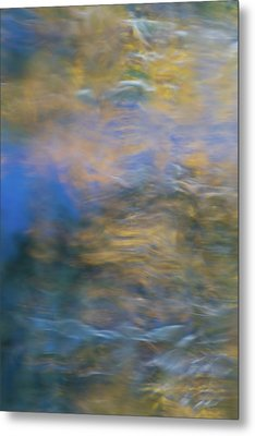 Merced River Reflections 18 Metal Print by Larry Marshall