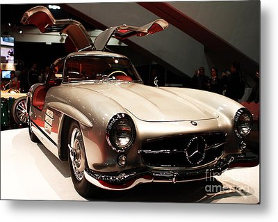 Mercedes 300sl Gullwing . Front Angle Metal Print by Wingsdomain Art and Photography