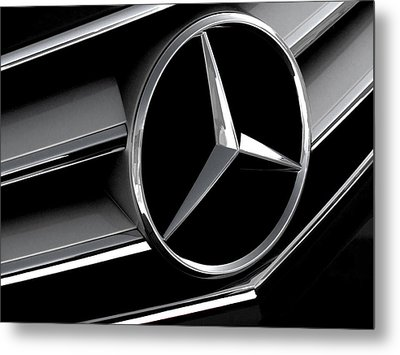 Mercedes Badge Metal Print by Douglas Pittman