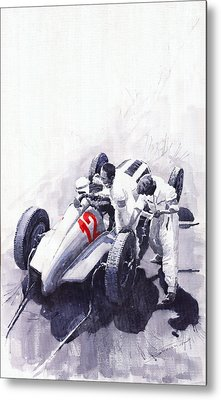 Mercedes Benz W125 Rudolf Caracciola The German Grand Prix Nurburgring 1937  Metal Print by Yuriy  Shevchuk