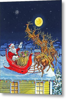 Merry Christmas To All Metal Print by Richard De Wolfe