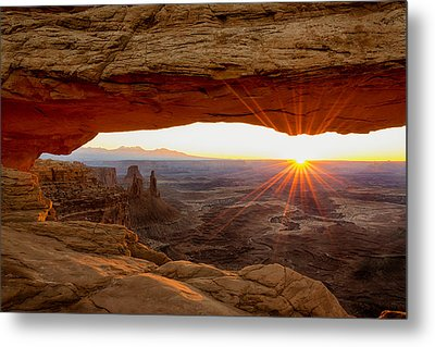 Mesa Arch Sunrise - Canyonlands National Park - Moab Utah Metal Print by Brian Harig