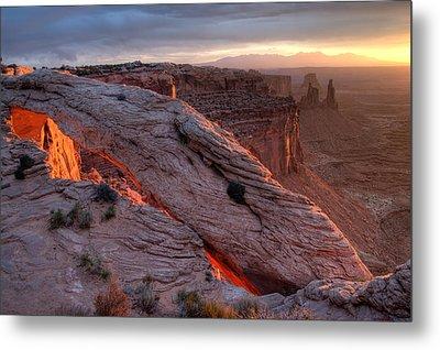 Mesa Arch Sunrise II Metal Print by Jeff Clay