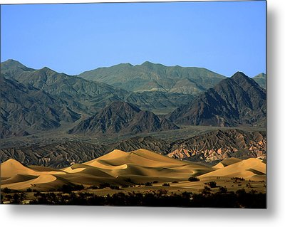 Mesquite Flat Sand Dunes - Death Valley National Park Ca Usa Metal Print by Christine Till