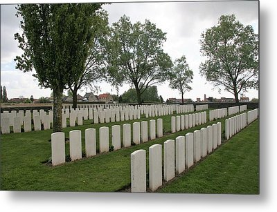 Metal Print featuring the photograph Messines Ridge British Cemetery by Travel Pics