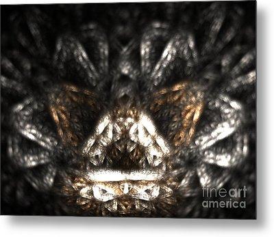 Metallic Chaise Metal Print by Kim Sy Ok