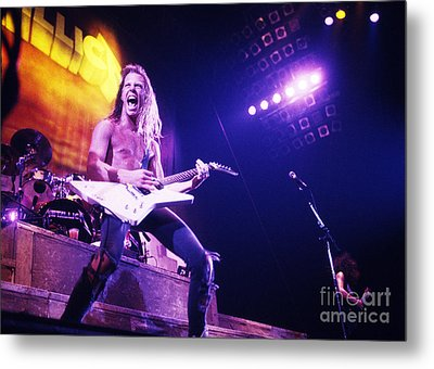 Metallica 1986 James Hetfield Metal Print by Chris Walter