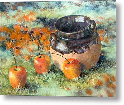 Mexican Apples Metal Print by DEVARAJ DanielFranco