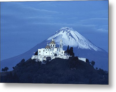 Mexico, Cholula, Catholic Church Metal Print by Keenpress