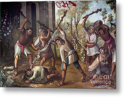 Mexico: Christian Martyrs Metal Print by Granger