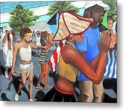 Miami Carnival Metal Print by Alima Newton