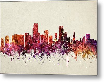 Miami Cityscape 09 Metal Print by Aged Pixel