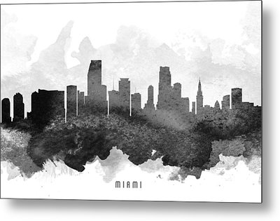 Miami Cityscape 11 Metal Print by Aged Pixel