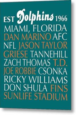 Miami Dolphins Metal Print by Jaime Friedman