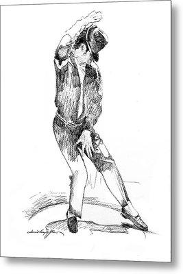 Michael Jackson Dancer Metal Print by David Lloyd Glover