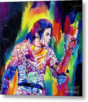 Michael Jackson Showstopper Metal Print by David Lloyd Glover