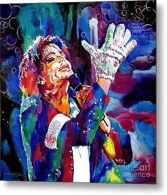 Michael Jackson Sings Metal Print by David Lloyd Glover