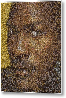 Michael Jordan Money Mosaic Metal Print by Paul Van Scott