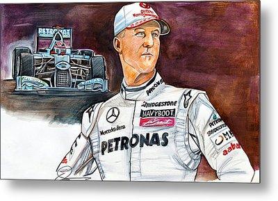Michael Schumacher Metal Print by Dave Olsen