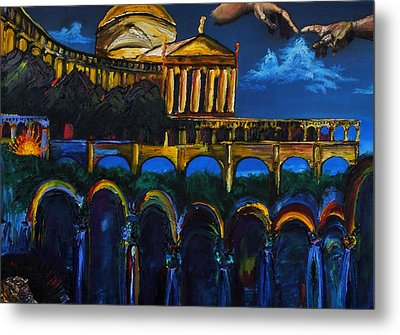 Michaelangelo Arches Vatican Metal Print by Gregory Allen Page