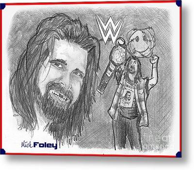 Mick Foley Metal Print by Chris  DelVecchio
