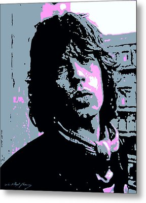 Mick Jagger In London Metal Print by David Lloyd Glover