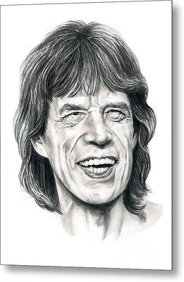 Mick Jagger Metal Print by Murphy Elliott