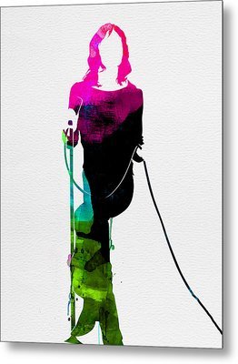 Mick Watercolor Metal Print by Naxart Studio
