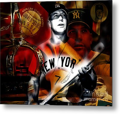 Mickey Mantle Collection Metal Print by Marvin Blaine