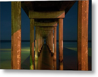 Midnight At Brighton Jetty Metal Print by Andrew Dickman