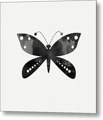 Midnight Butterfly 4- Art By Linda Woods Metal Print by Linda Woods