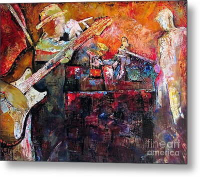 Midnight Ensemble Metal Print by Shadia Zayed