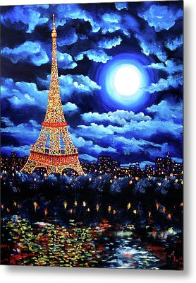 Midnight In Paris Metal Print by Laura Iverson