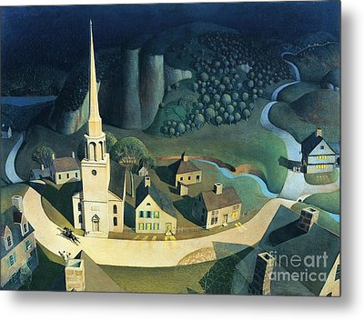 Midnight Ride Of Paul Revere Metal Print by Pg Reproductions