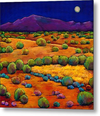 Midnight Sagebrush Metal Print by Johnathan Harris