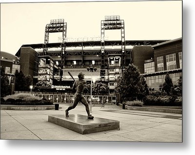 Mike Schmidt In Sepia Metal Print by Bill Cannon