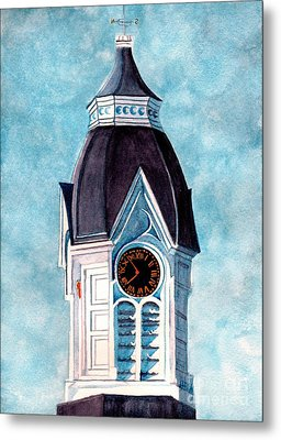 Milford Clock Tower Metal Print by Janine Riley