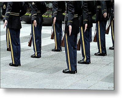 Military Formation Metal Print by Karol Livote
