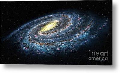 Milky Way Galaxy Oblique Metal Print by Lynette Cook