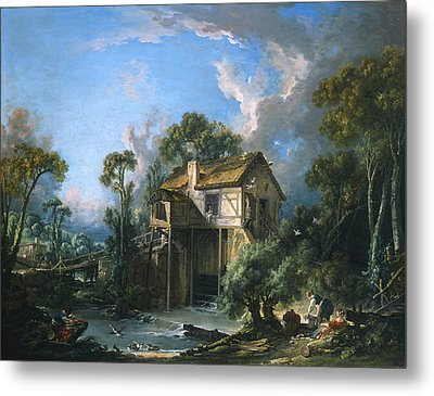 Mill At Charenton Metal Print by Francois Boucher