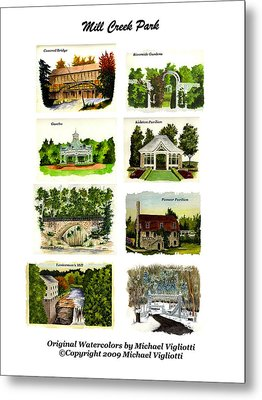 Mill Creek Park Collage Metal Print by Michael Vigliotti