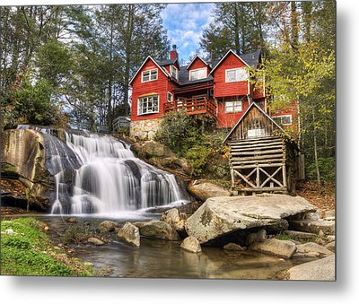 Mill Shoals Falls - Wnc Blue Ridge Waterfalls Metal Print by Dave Allen